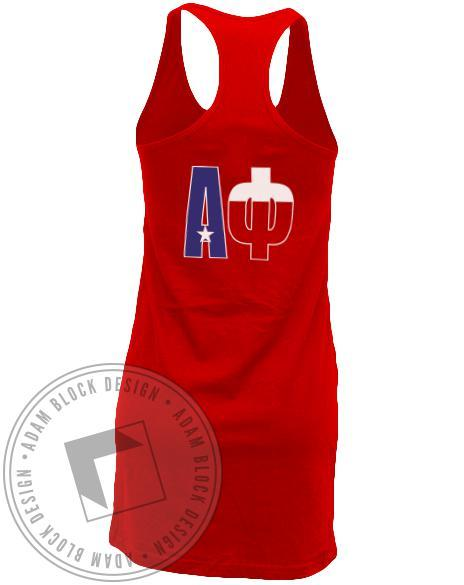 Alpha Phi America's Finest Tank Dress-Adam Block Design