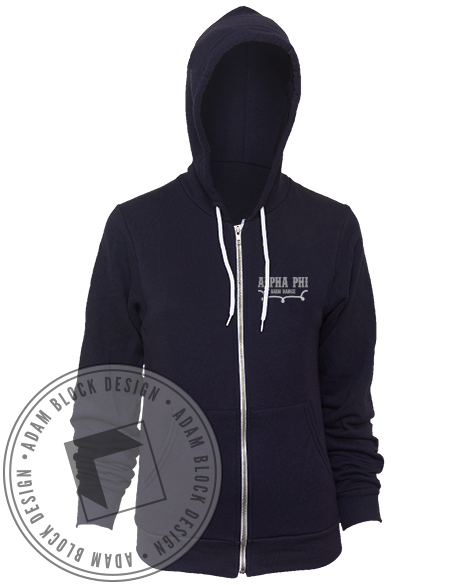 Alpha Phi Barn Dance Sweatshirt Hoody-gallery-Adam Block Design