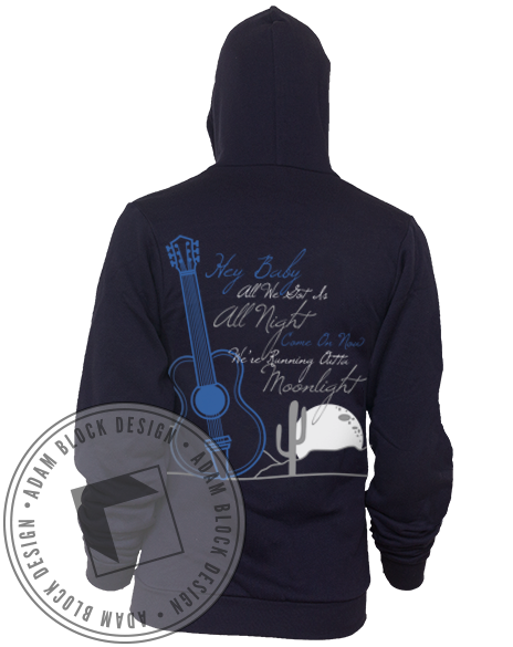 Alpha Phi Barn Dance Sweatshirt Hoody-Adam Block Design