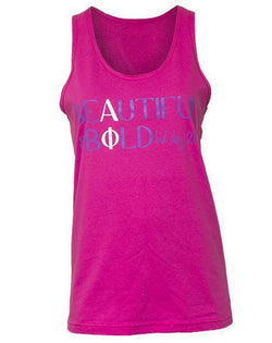 Alpha Phi Beautiful Tank-Adam Block Design
