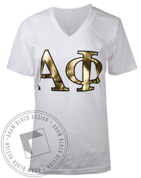 Alpha Phi Best Things Tshirt-Adam Block Design
