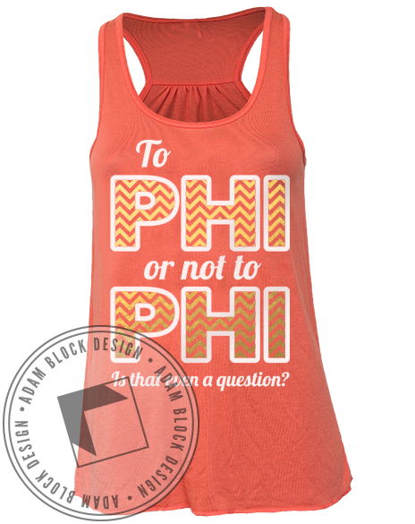 Alpha Phi Bid Day Chevron Tank-Adam Block Design