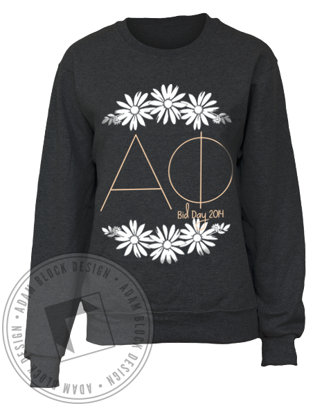 Alpha Phi Bid Day Daisy Sweatshirt-Adam Block Design