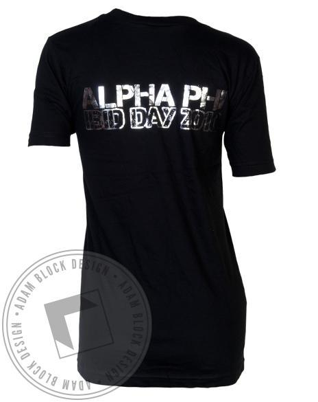 Alpha Phi Bid Day V-Neck-Adam Block Design