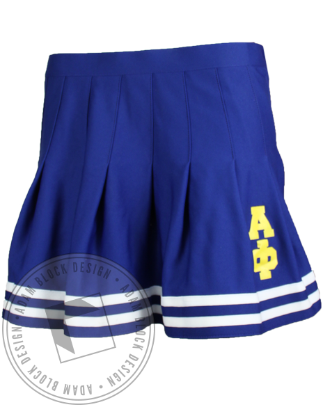 Alpha Phi Blue Cheerleader Skirt-gallery-Adam Block Design