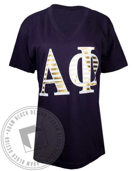 Alpha Phi By Your Side Tshirt-Adam Block Design