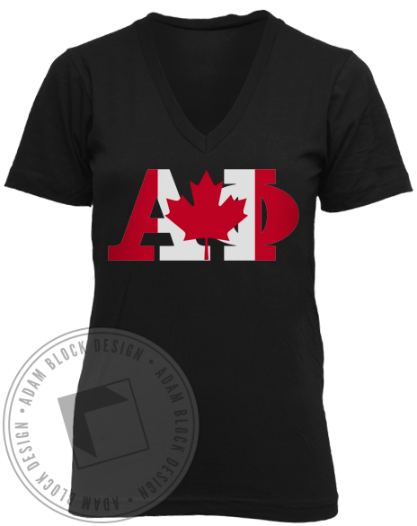 Alpha Phi Canadian V-Neck-gallery-Adam Block Design