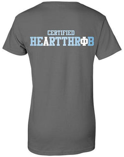 Alpha Phi Certified Heartthrob Pocket T-Shirt-Adam Block Design