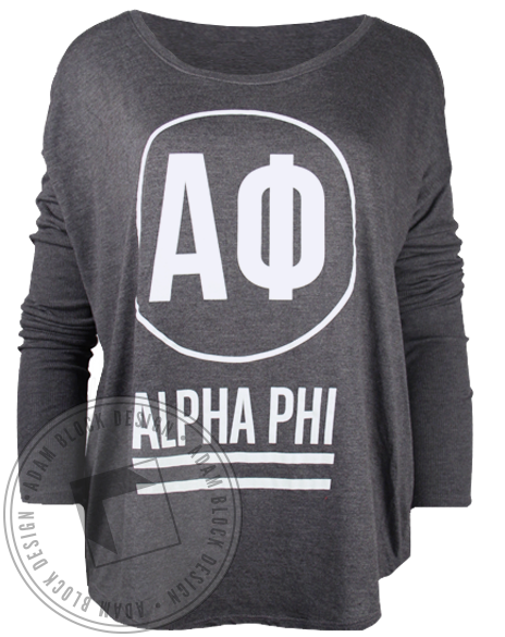 Alpha Phi Circle Longsleeve Shirt-Adam Block Design