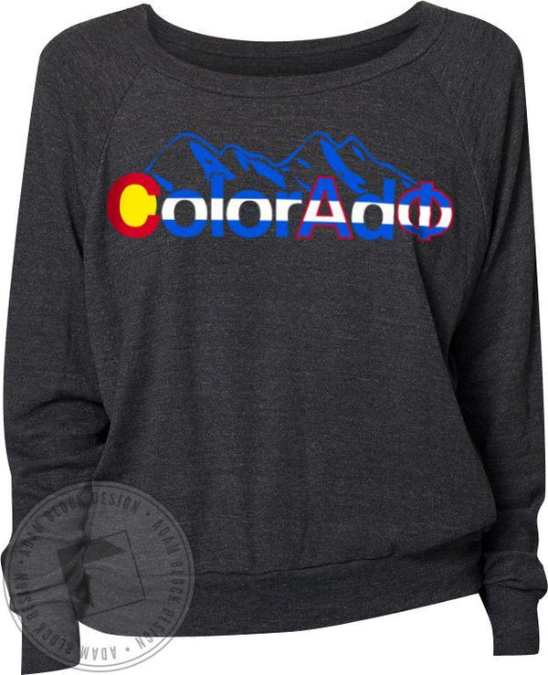 Alpha Phi Colorado Flag Pullover-Adam Block Design
