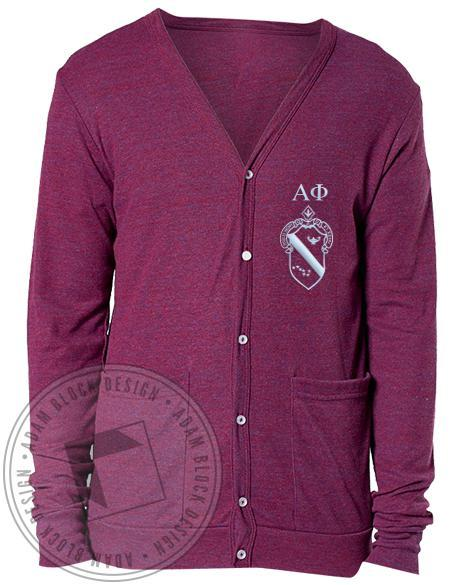 Alpha Phi Crest Cardigan-gallery-Adam Block Design