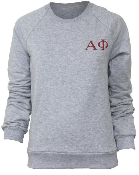 Alpha Phi Crest Crewneck Sweatshirt-gallery-Adam Block Design