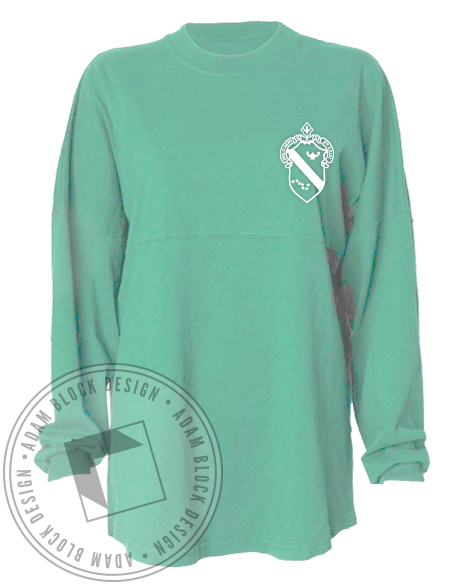 Alpha Phi Crest Spirit Jersey-Adam Block Design