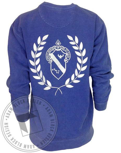 Alpha Phi Crest Sweatshirt-gallery-Adam Block Design