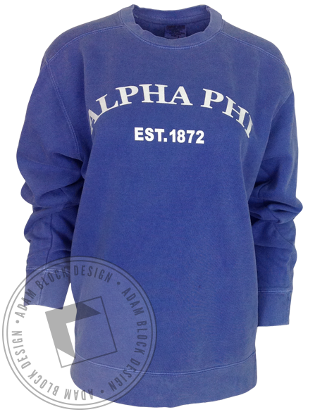 Alpha Phi Crest Sweatshirt-Adam Block Design