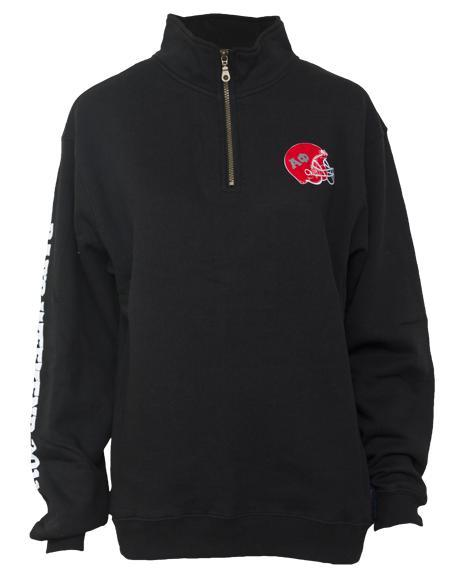 Alpha Phi Dad's Weekend Half Zip Sweatshirt-Adam Block Design