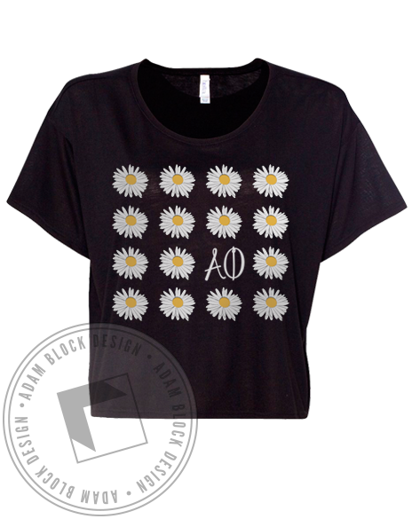 Alpha Phi Daisy Tee Shirt-Adam Block Design