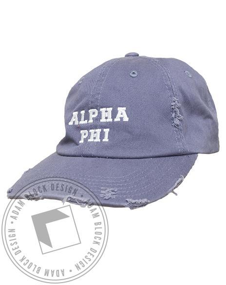 Alpha Phi Distressed Hat-gallery-Adam Block Design