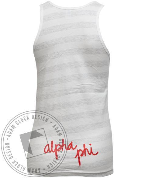 Alpha Phi Do It With Heart Stereo Tank-Adam Block Design