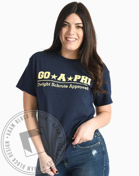 Alpha Phi Dwight Schrute Approved Tshirt-gallery-Adam Block Design