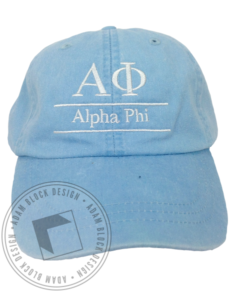 Alpha Phi Embroidered Hat-gallery-Adam Block Design