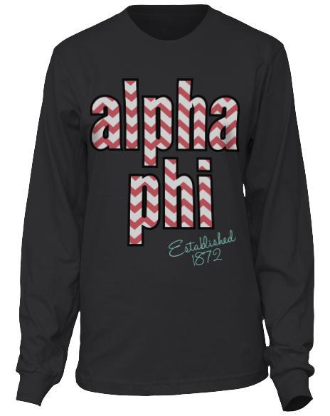Alpha Phi Envy The Ivy Longsleeve-Adam Block Design