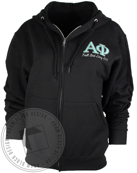 Alpha Phi Fall Bid Day Hoody Sweatshirt-gallery-Adam Block Design