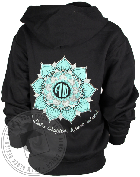 Alpha Phi Fall Bid Day Hoody Sweatshirt-Adam Block Design