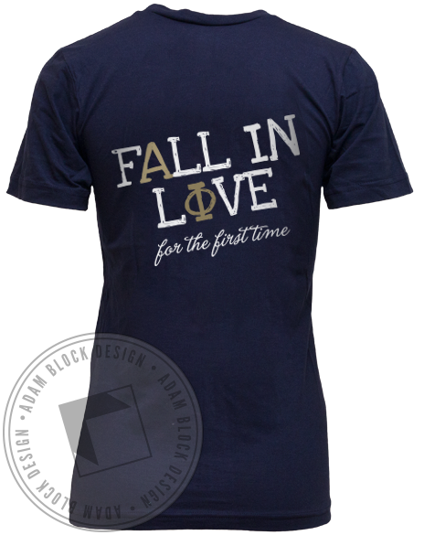 Alpha Phi Fall In Love Tank-Adam Block Design