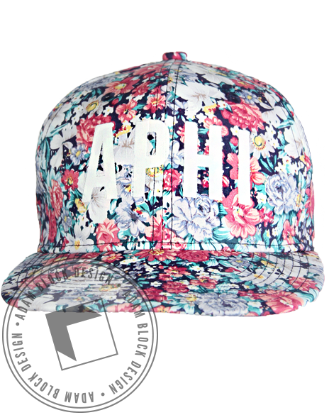 Alpha Phi Floral Snapback Hat-gallery-Adam Block Design