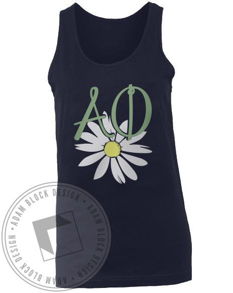 Alpha Phi Flower Bid Day Tank-Adam Block Design