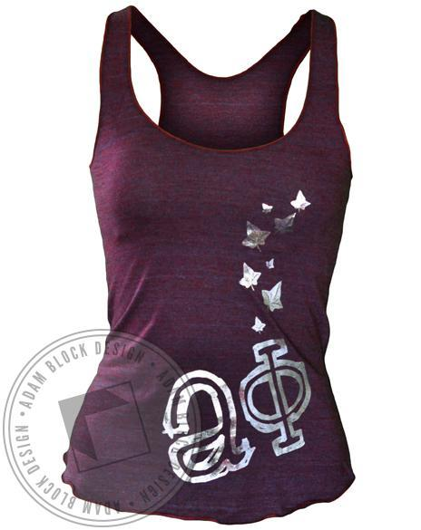 Alpha Phi Foil Ivy Tank-gallery-Adam Block Design