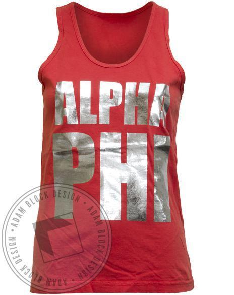 Alpha Phi Foil Tank-Adam Block Design