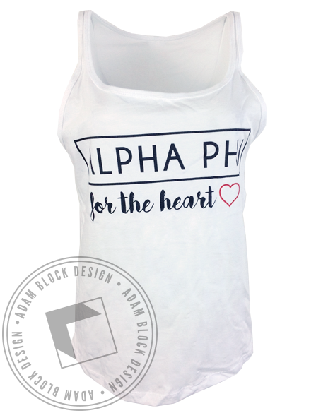 Alpha Phi For The Heart Tank-gallery-Adam Block Design