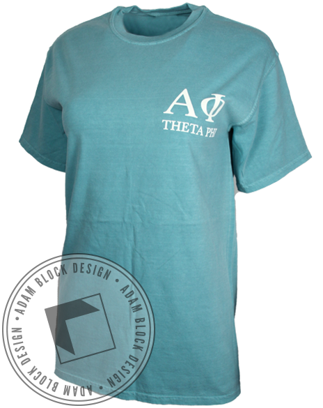 Alpha Phi Forget Me Not Tee Shirt-Adam Block Design