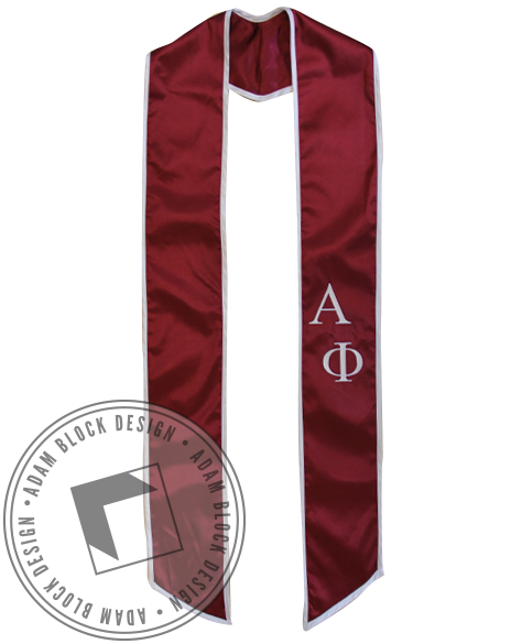 Alpha Phi Graduation Stole-Adam Block Design