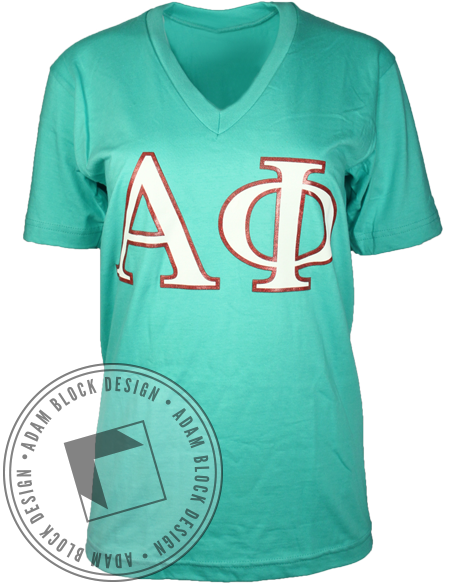Alpha Phi Greatest Sorority V-Neck-Adam Block Design