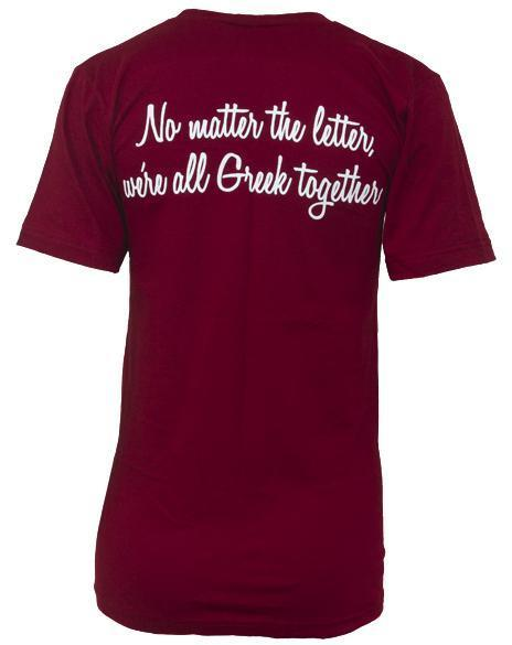Alpha Phi Greek Together Heart V-neck-Adam Block Design