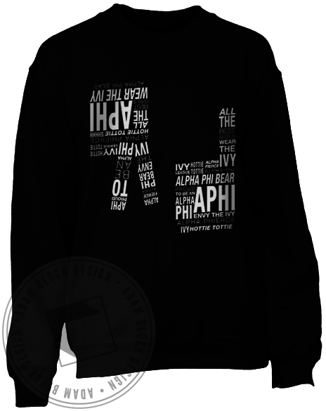 Alpha Phi Hand Sign Sweatshirt-Adam Block Design