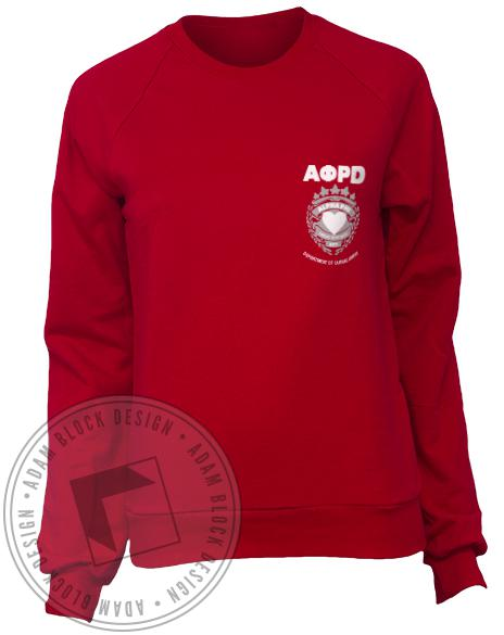 Alpha Phi Heart Throb Crewneck Sweatshirt-gallery-Adam Block Design