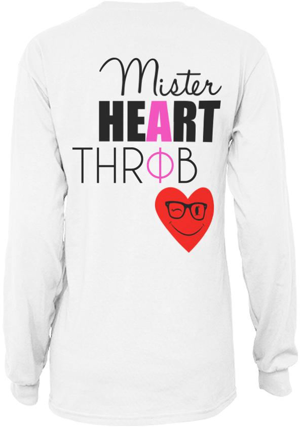 Alpha Phi Heartthrob Long Sleeve-Adam Block Design