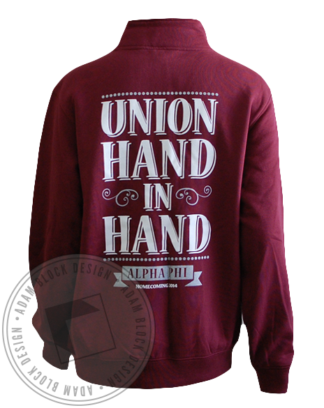 Alpha Phi Homecoming Sweatshirt Pullover-gallery-Adam Block Design