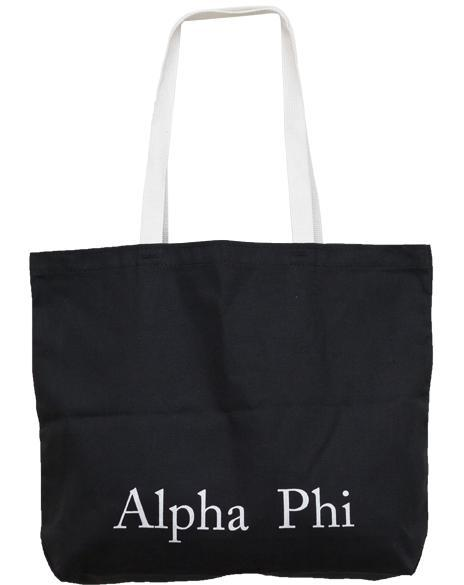 Alpha Phi Ivy Black APhi Tote-gallery-Adam Block Design