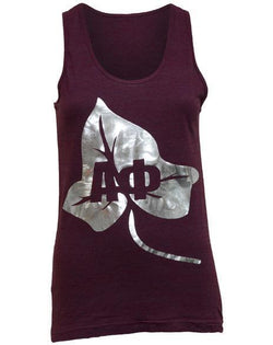 Alpha Phi Ivy Letter Tank Top-gallery-Adam Block Design