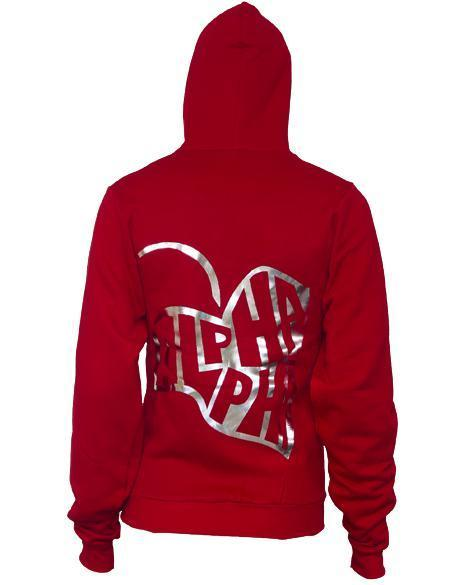 Alpha Phi Ivy Red Hoody-gallery-Adam Block Design