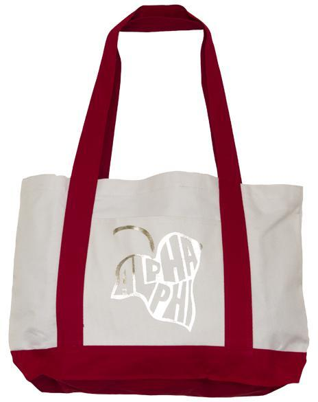 Alpha Phi Ivy Tote Bag-gallery-Adam Block Design