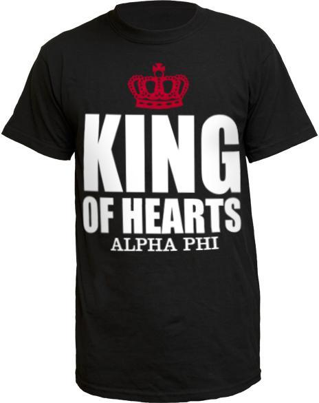 Alpha Phi King Of Hearts Crown Shirt-gallery-Adam Block Design