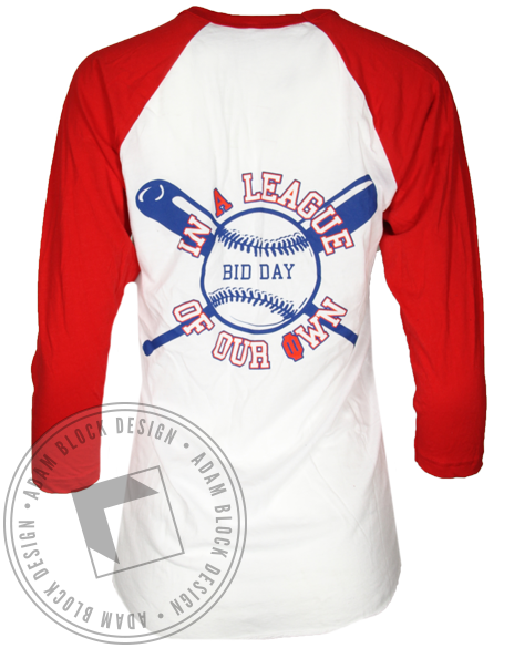 Alpha Phi League of Our Own Baseball Tshirt-gallery-Adam Block Design