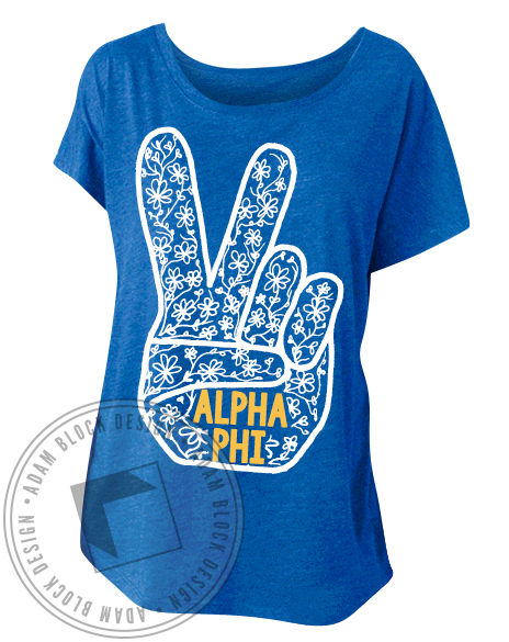 Alpha Phi Let It Be Tee Shirt-Adam Block Design