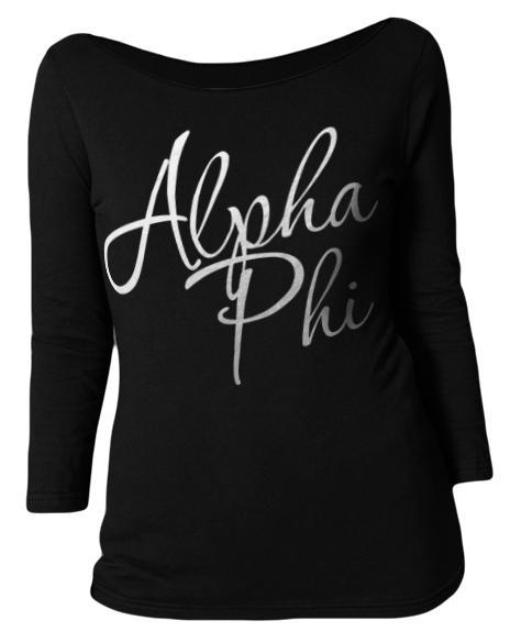 Alpha Phi Letter Long-Sleeve-Adam Block Design